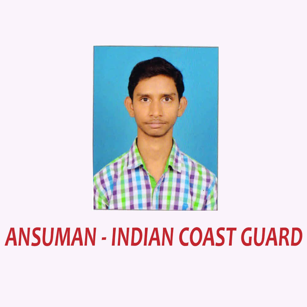 Doon Defence Career Point Indian Coast Guard Selected Student Ansuman